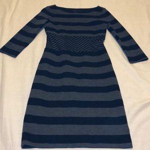Black/Gray Striped BCBG Dress